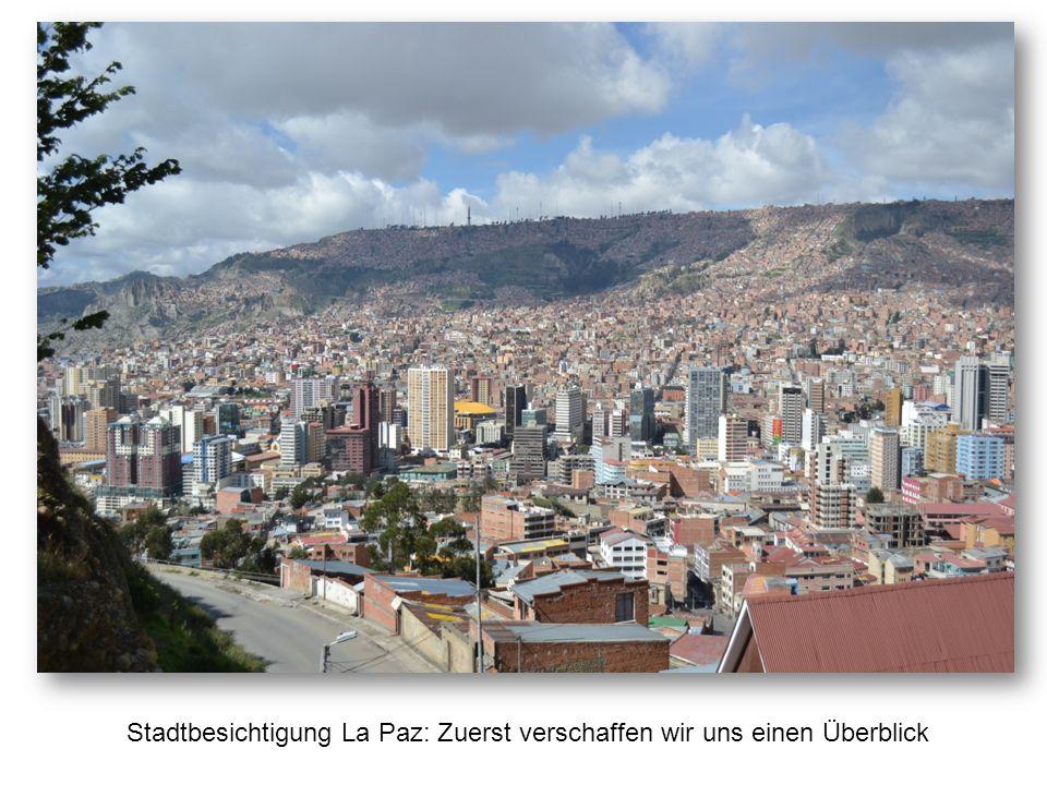 Stadtbesichtigung La Paz: Zuerst verschaffen wir uns einen Überblick