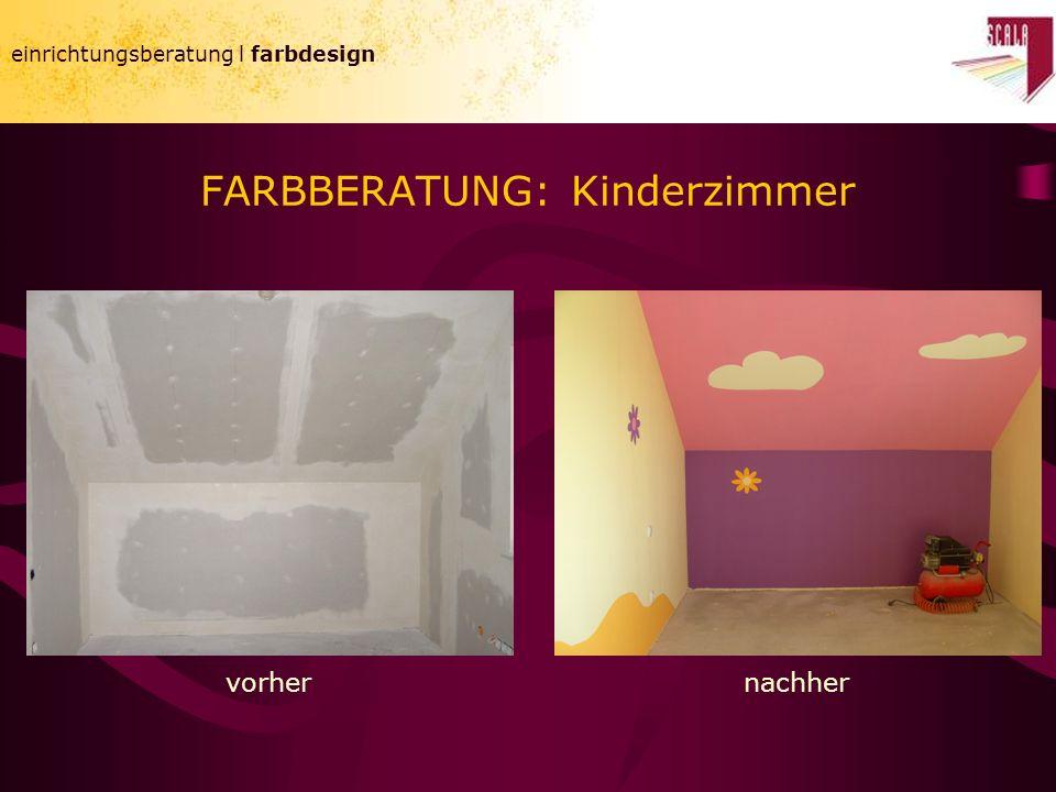 FARBBERATUNG: Kinderzimmer einrichtungsberatung l farbdesign vorhernachher