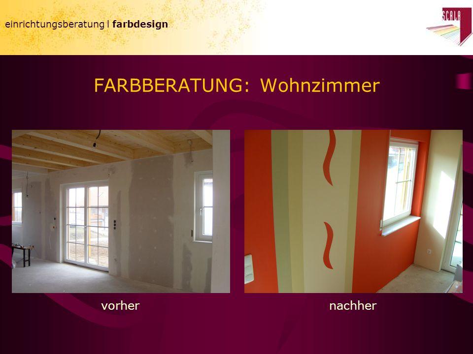 einrichtungsberatung l farbdesign FARBBERATUNG: Wohnzimmer einrichtungsberatung l farbdesign vorhernachher