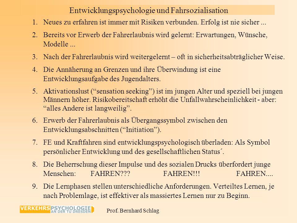 Prof. Bernhard Schlag Folgenminderung: sekundäre & tertiäre Prävention Personale Verhaltens- hintergründe (differentiell) Situationale Verhaltensangeb