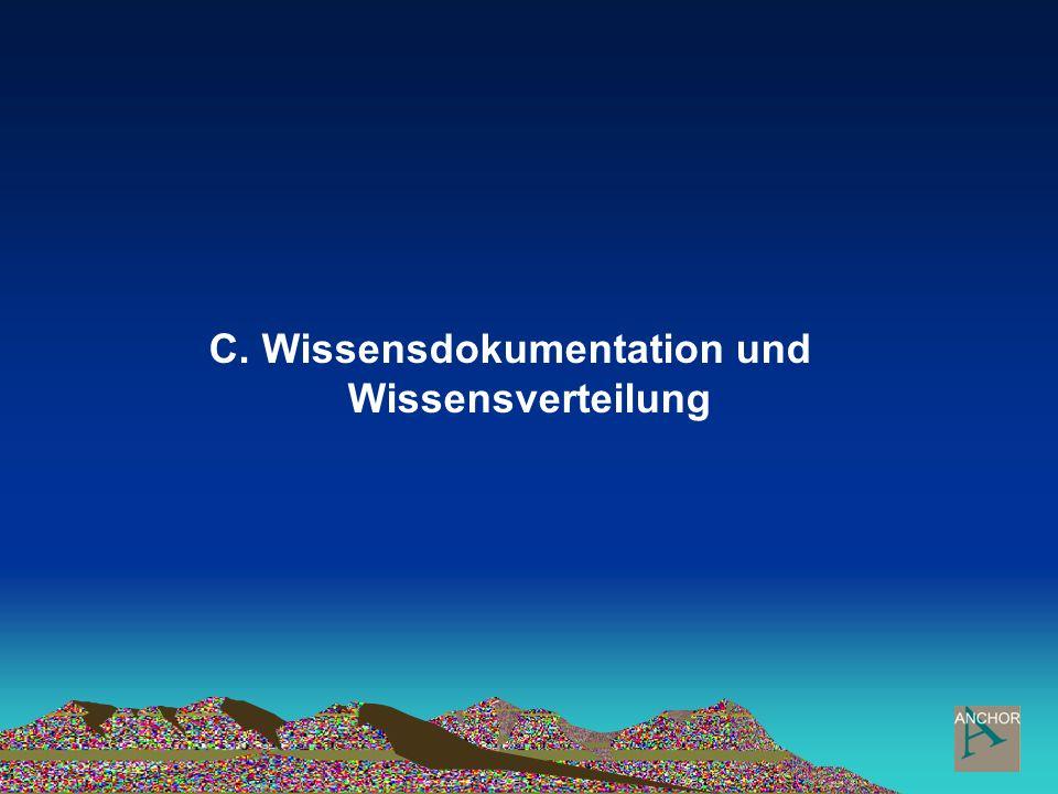 C. Wissensdokumentation und Wissensverteilung