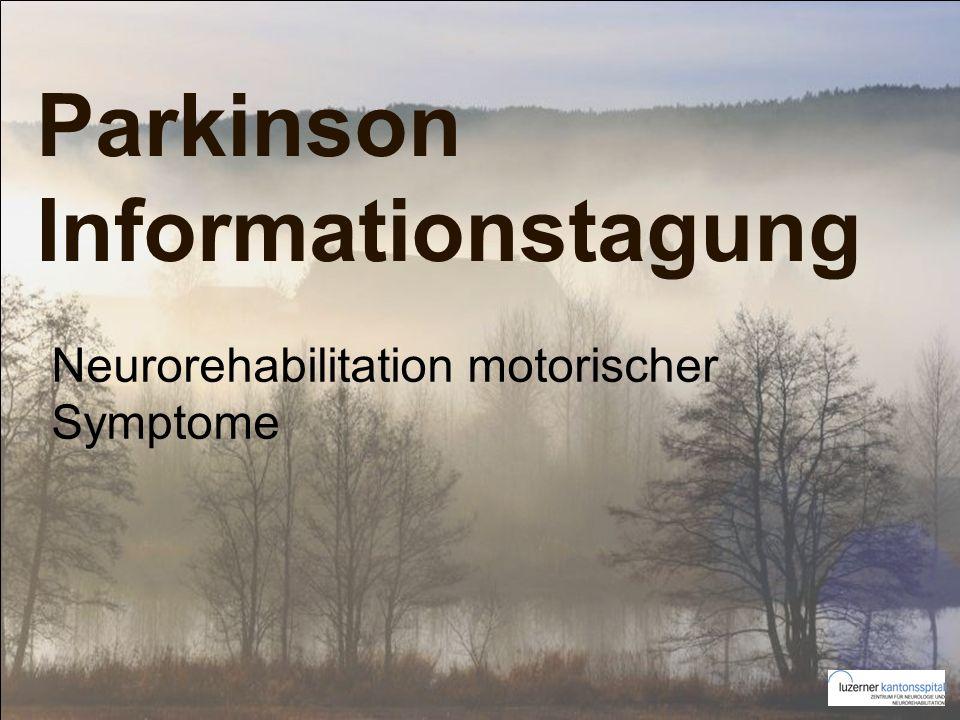 Parkinson Informationstagung Neurorehabilitation motorischer Symptome