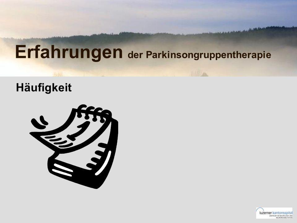 Erfahrungen der Parkinsongruppentherapie Häufigkeit