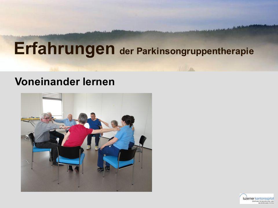 Erfahrungen der Parkinsongruppentherapie Voneinander lernen