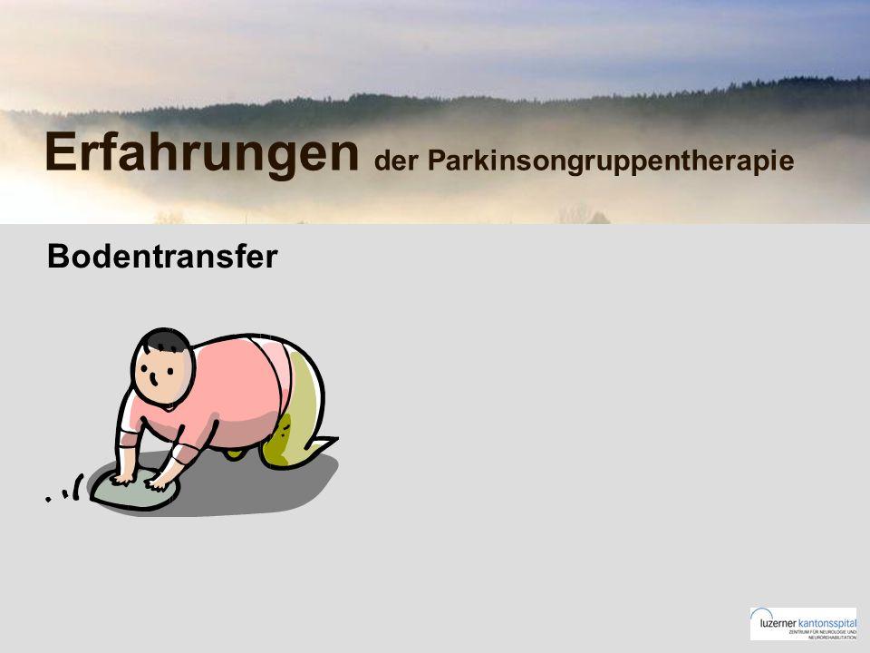 Erfahrungen der Parkinsongruppentherapie Bodentransfer