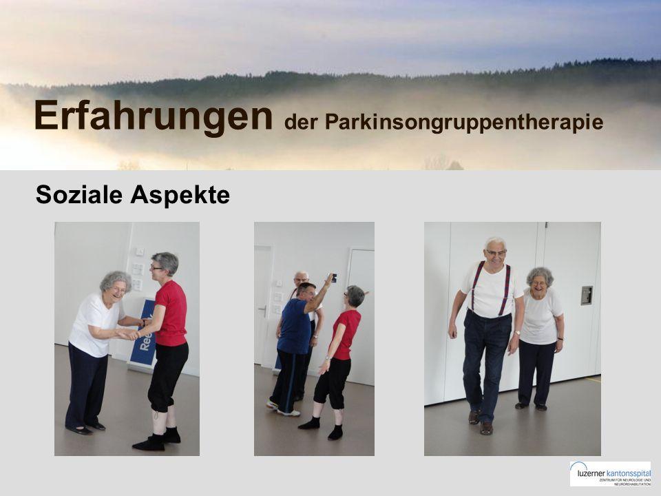 Erfahrungen der Parkinsongruppentherapie Soziale Aspekte