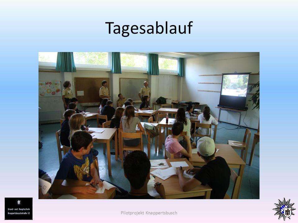 Tagesablauf Pilotprojekt Knappertsbusch
