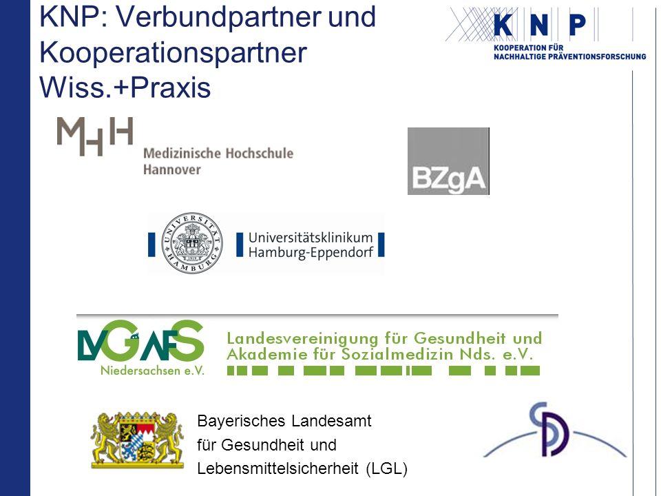 KNP: Verbundpartner und Kooperationspartner Wiss.+Praxis Bayerisches Landesamt für Gesundheit und Lebensmittelsicherheit (LGL)