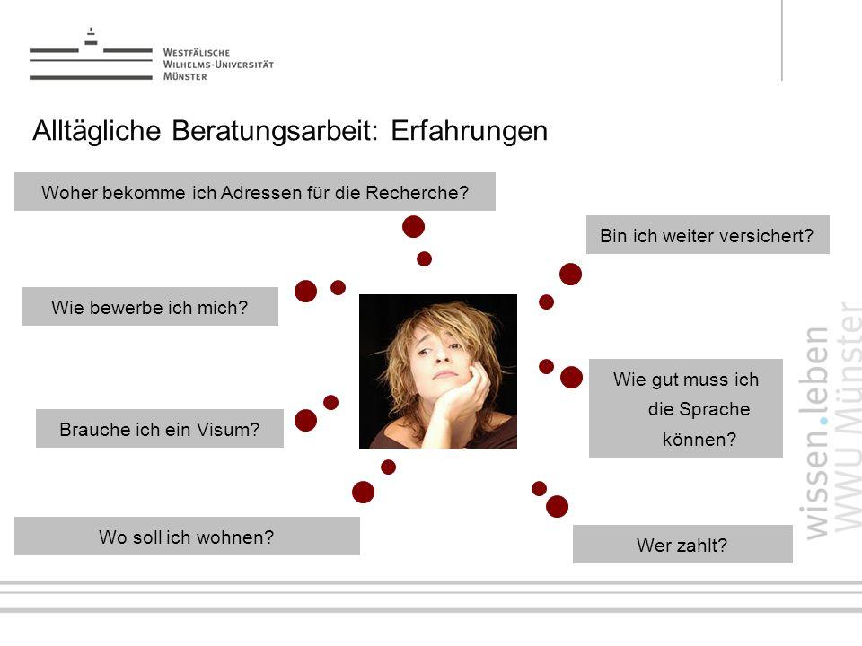 LLP-ERASMUS-Praktika: Organisation & Durchführung Andrea Schröder, Career Service 7/14 Woher bekomme ich Adressen für die Recherche? Bin ich weiter ve