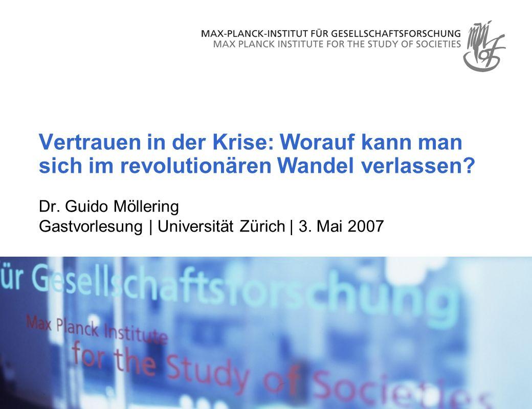Dr.Guido Möllering Gastvorlesung | Universität Zürich | 3.