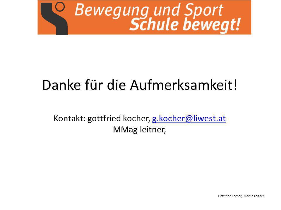 Gottfried Kocher, Martin Leitner Danke für die Aufmerksamkeit.