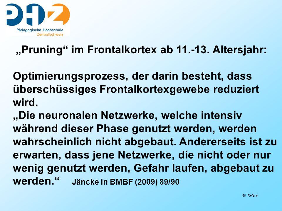 58 Referat Pruning im Frontalkortex ab 11.-13.
