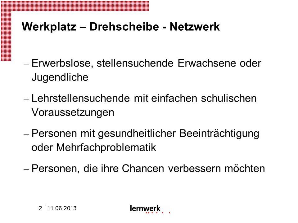 Werkplatz – Drehscheibe - Netzwerk 11.06.20132