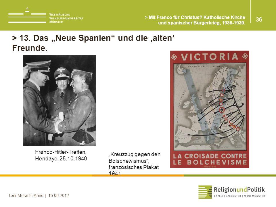 > Mit Franco für Christus.Katholische Kirche und spanischer Bürgerkrieg, 1936-1939.