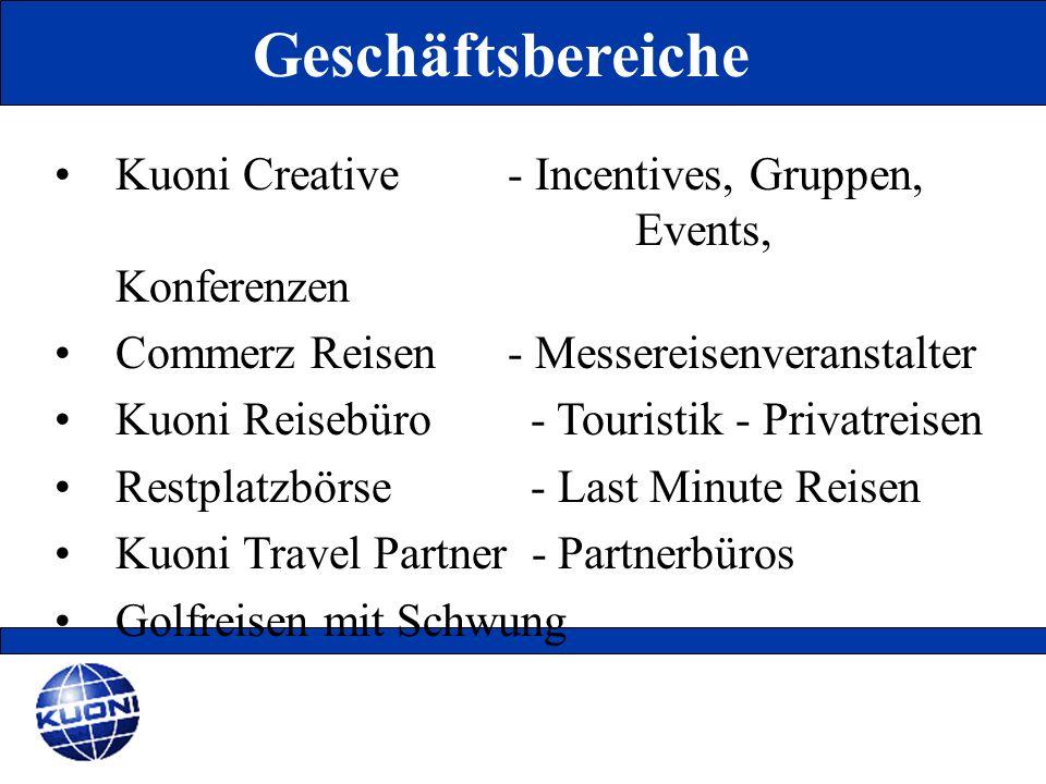 Kuoni Creative - Incentives, Gruppen, Events, Konferenzen Commerz Reisen - Messereisenveranstalter Kuoni Reisebüro - Touristik - Privatreisen Restplat