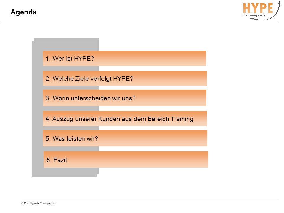 © 2010, Hype die Trainingsprofis HYPE - die Coaching- und Trainingsprofis Wir stellen Ihren Erfolg sicher.