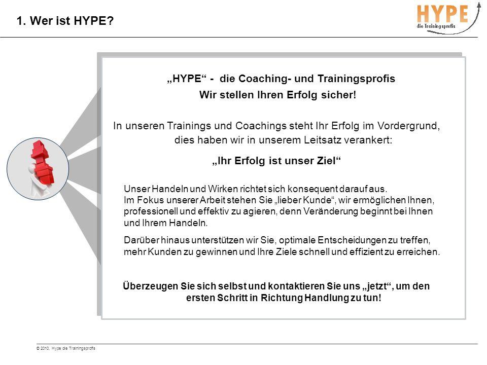 © 2010, Hype die Trainingsprofis 2.Welche Ziele verfolgt HYPE.
