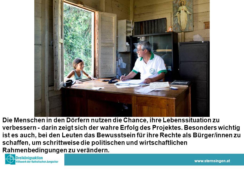 www.sternsingen.at Die Menschen in den Dörfern nutzen die Chance, ihre Lebenssituation zu verbessern - darin zeigt sich der wahre Erfolg des Projektes.
