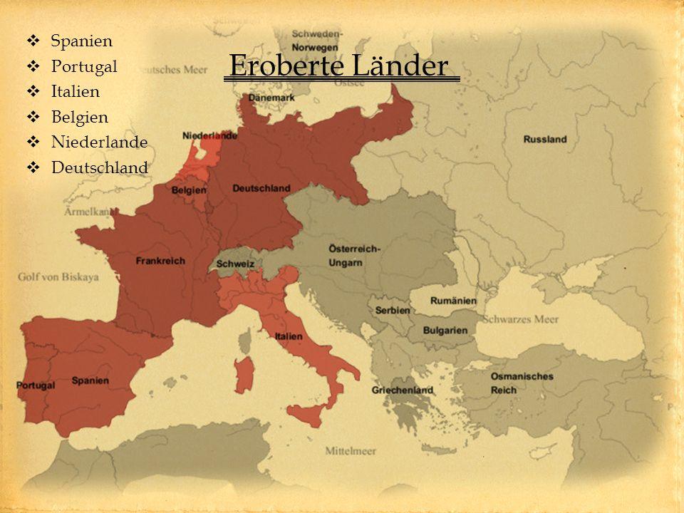 Spanien Portugal Italien Belgien Niederlande Deutschland Eroberte Länder