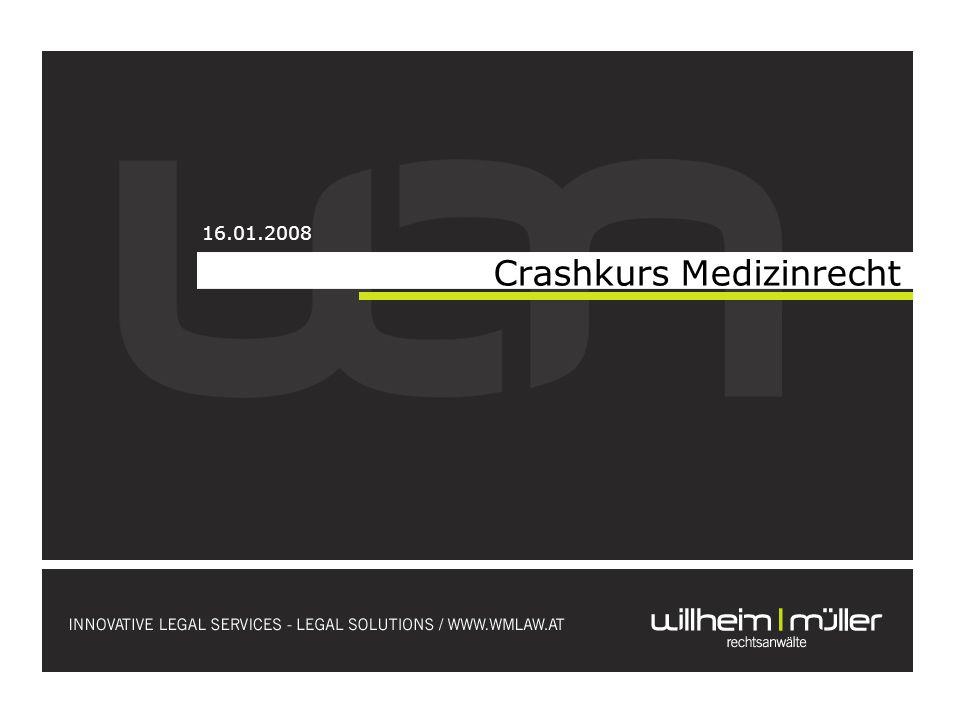 Crashkurs Medizinrecht 16.01.2008