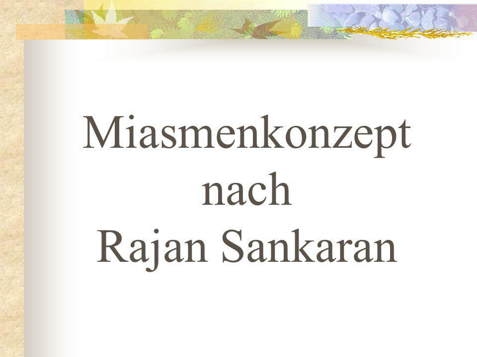 Miasmenkonzept nach Rajan Sankaran