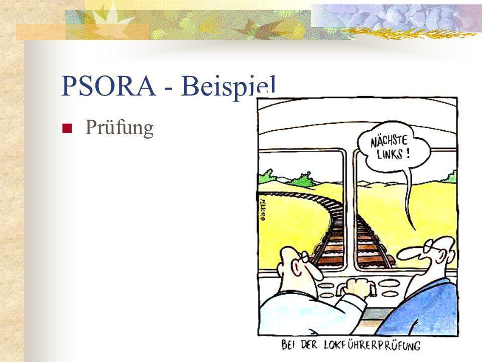 PSORA - Beispiel Prüfung