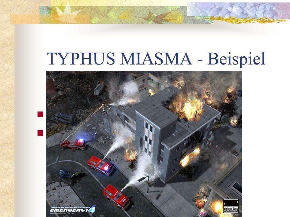 TYPHUS MIASMA - Beispiel Feuer am Dach Börsencrash