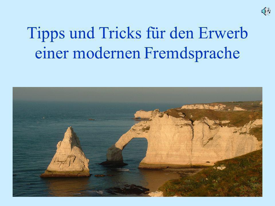 Französisch Jahrgangsstufe 71 Tipps und Tricks für den Erwerb einer modernen Fremdsprache