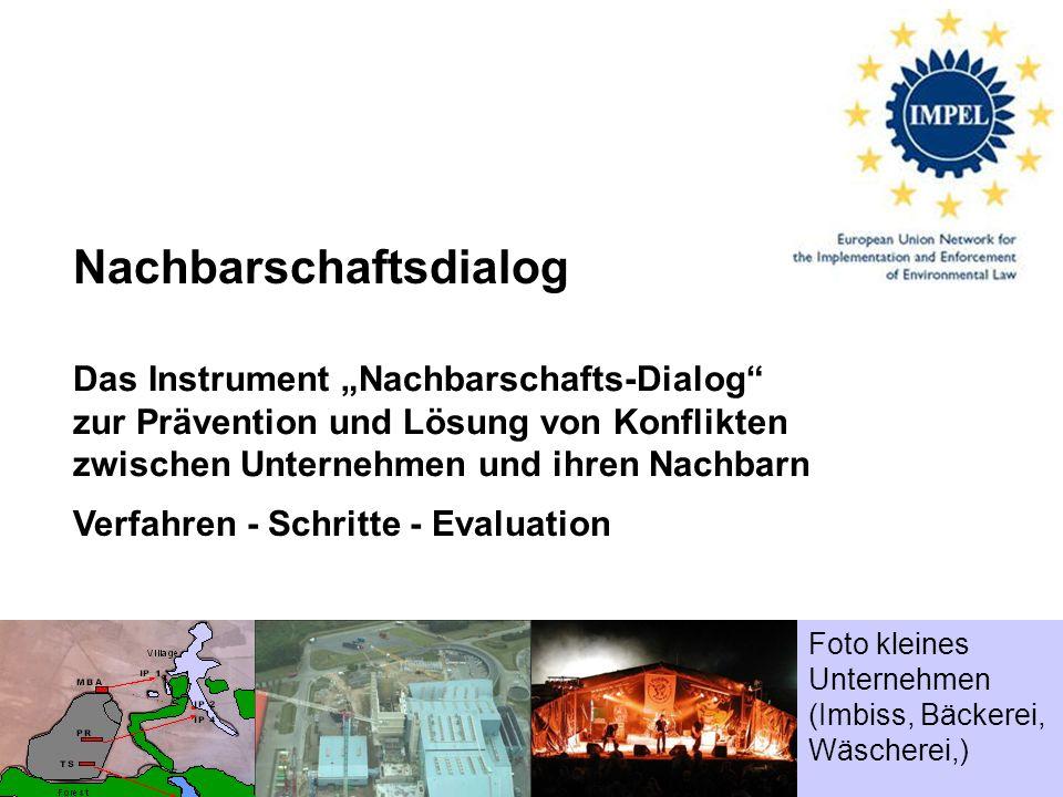 Nachbarschaftsdialog – Werkzeuge, Prozess und Evaluation 1 Nachbarschaftsdialog Das Instrument Nachbarschafts-Dialog zur Prävention und Lösung von Kon