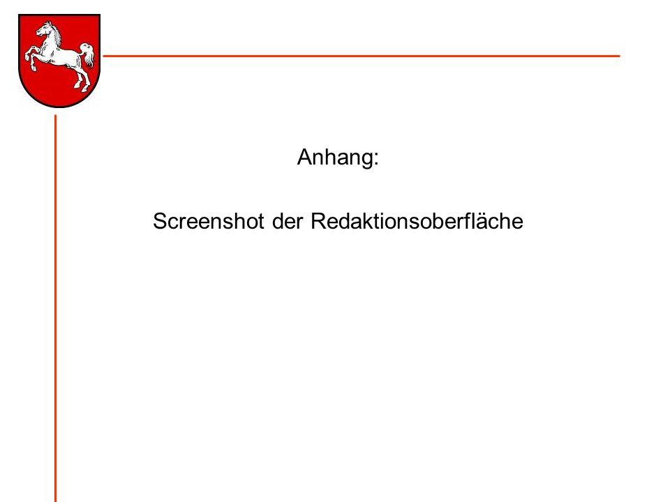 Anhang: Screenshot der Redaktionsoberfläche