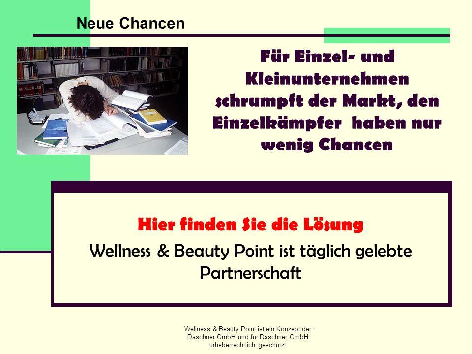Wellness & Beauty Point ist ein Konzept der Daschner GmbH und für Daschner GmbH urheberrechtlich geschützt Für Einzel- und Kleinunternehmen schrumpft