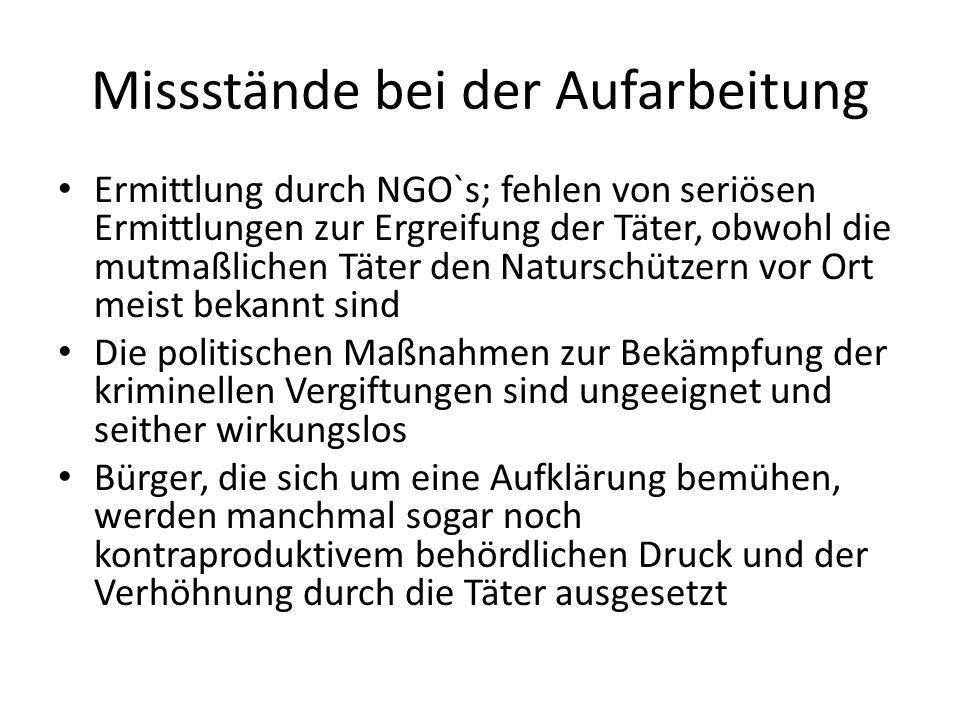 Missstände bei der Aufarbeitung Ermittlung durch NGO`s; fehlen von seriösen Ermittlungen zur Ergreifung der Täter, obwohl die mutmaßlichen Täter den N