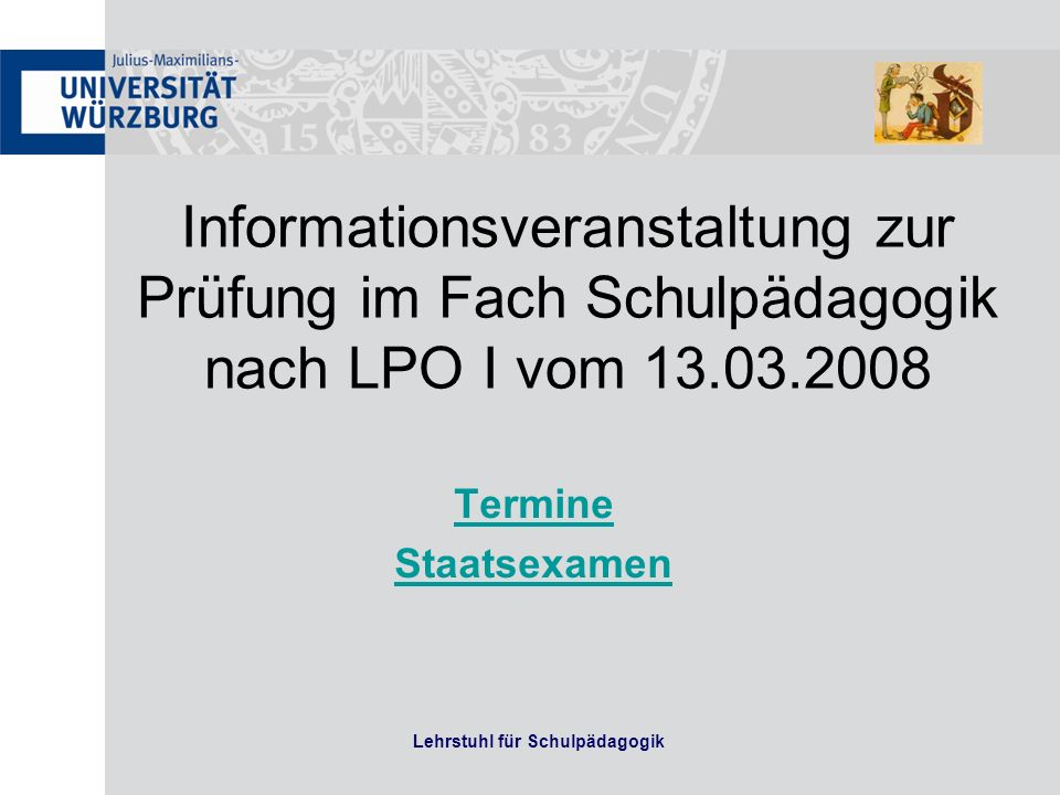 Thema Nr. 2 Realschule Herbst 2013 Lehrstuhl für Schulpädagogik