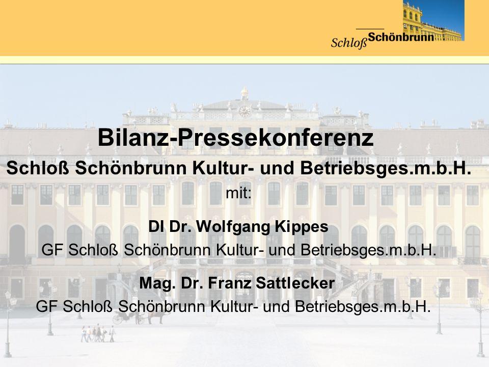 Besucherzahlen Schloß Schönbrunn Eintritte 2009 und 2010 im Vergleich Schloß Schönbrunn Kultur- u.