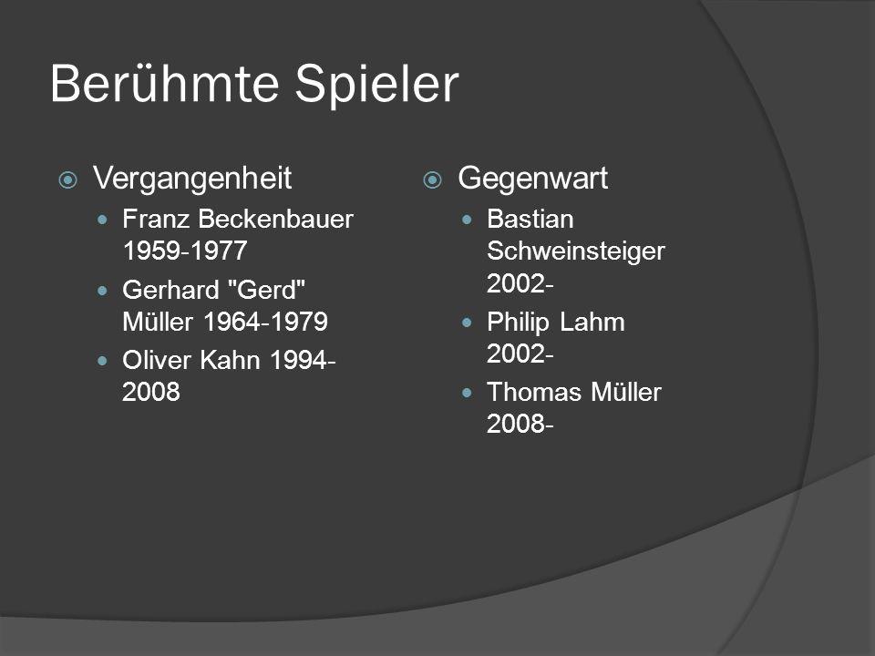 Berühmte Spieler Vergangenheit Franz Beckenbauer 1959-1977 Gerhard