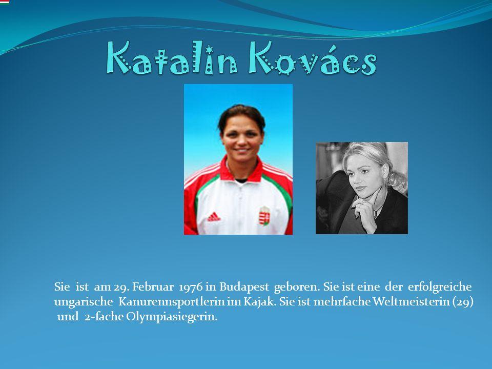 Sie ist am 29. Februar 1976 in Budapest geboren. Sie ist eine der erfolgreiche ungarische Kanurennsportlerin im Kajak. Sie ist mehrfache Weltmeisterin