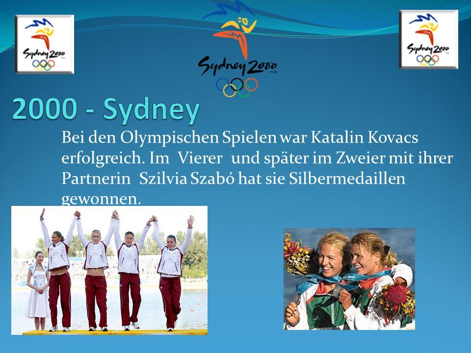 Bei den Olympischen Spielen war Katalin Kovacs erfolgreich. Im Vierer und später im Zweier mit ihrer Partnerin Szilvia Szabó hat sie Silbermedaillen g