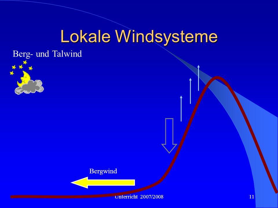 Unterricht 2007/200811 Lokale Windsysteme Berg- und Talwind Bergwind