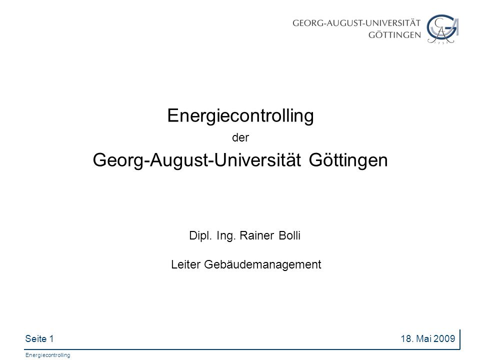 Seite 1 Energiecontrolling 18.