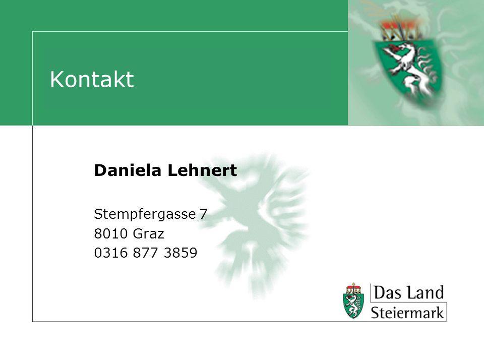 Kontakt Daniela Lehnert Stempfergasse 7 8010 Graz 0316 877 3859