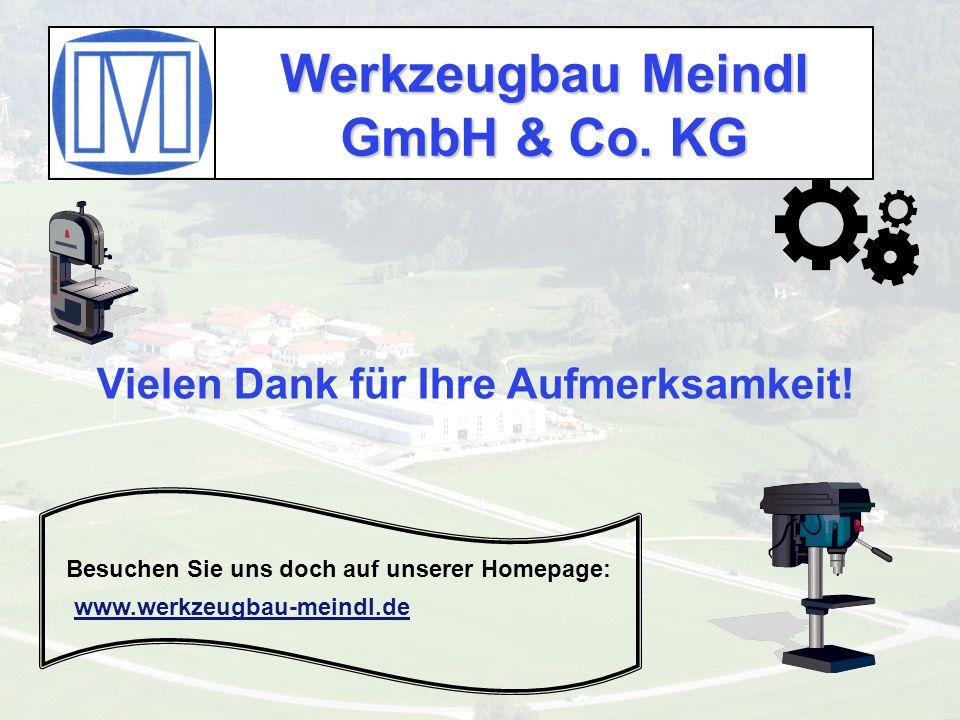 Werkzeugbau Meindl GmbH & Co. KG Besuchen Sie uns doch auf unserer Homepage: Vielen Dank für Ihre Aufmerksamkeit! www.werkzeugbau-meindl.de