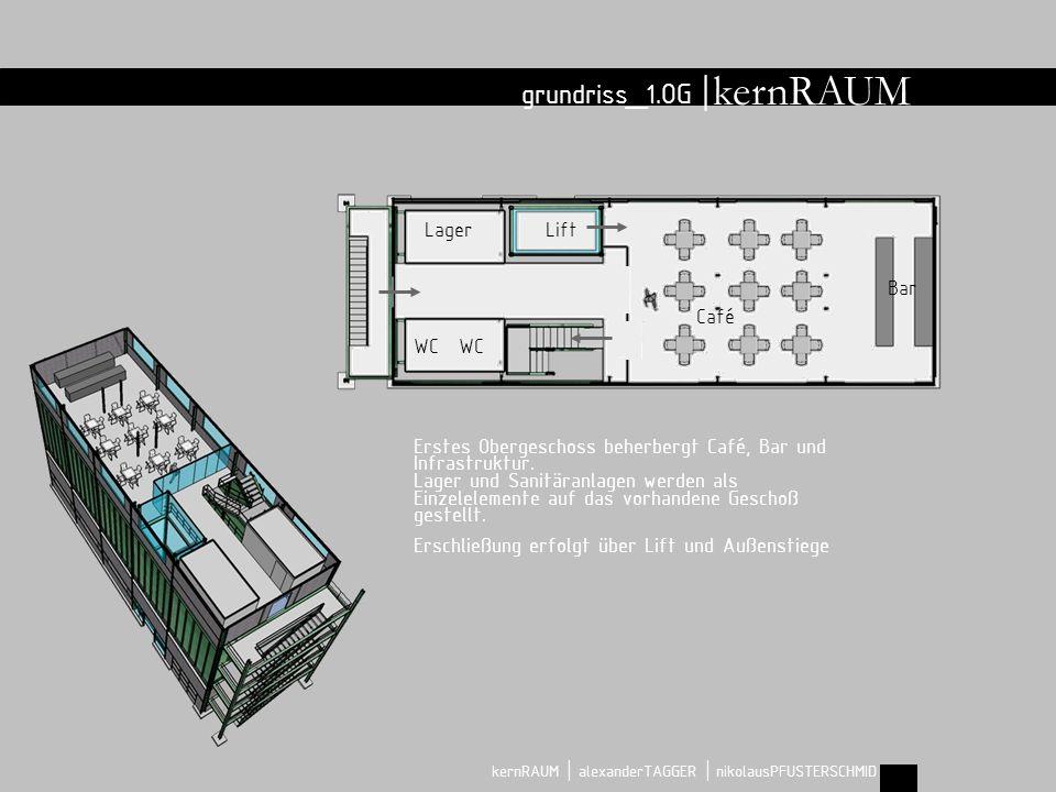grundriss_2.OG | kernRAUM | alexanderTAGGER | nikolausPFUSTERSCHMID runder Tisch kernRAUM Im zweiten Obergeschoss befindet sich der kernRAUM.