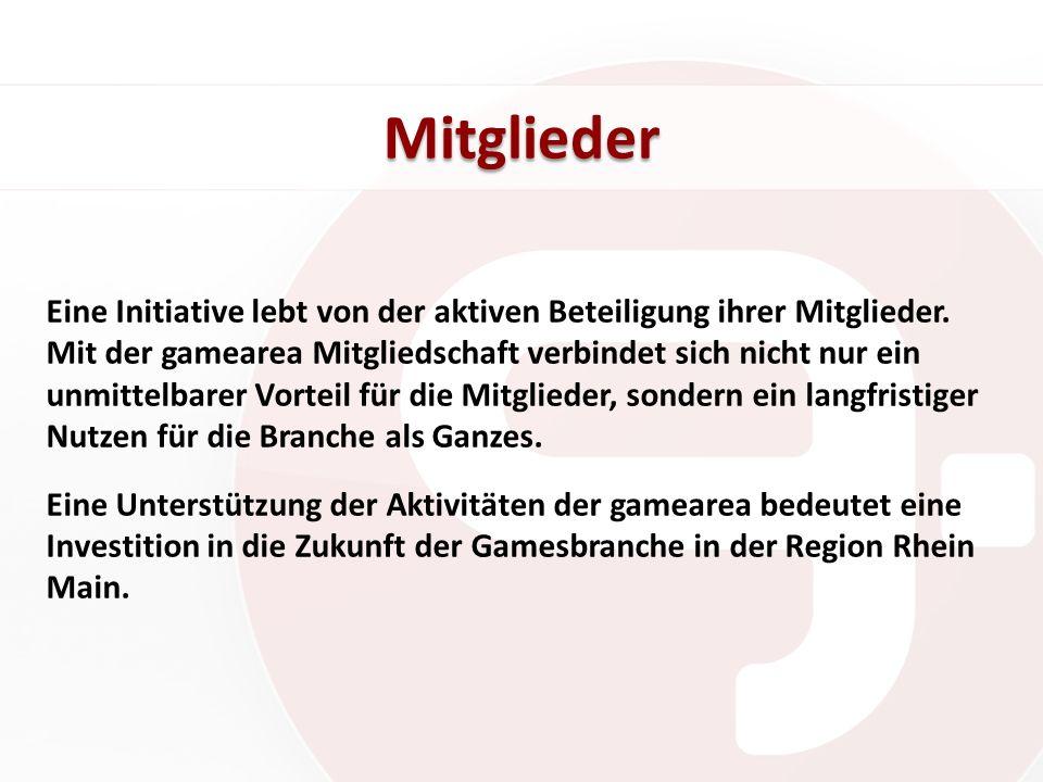 Tätigkeiten: Vernetzung Die Rhein Main Region beherbergt über 100 Publisher, Entwickler, Zulieferer, Ausbildungsstätten und Medien- sowie IT- Unternehmen.