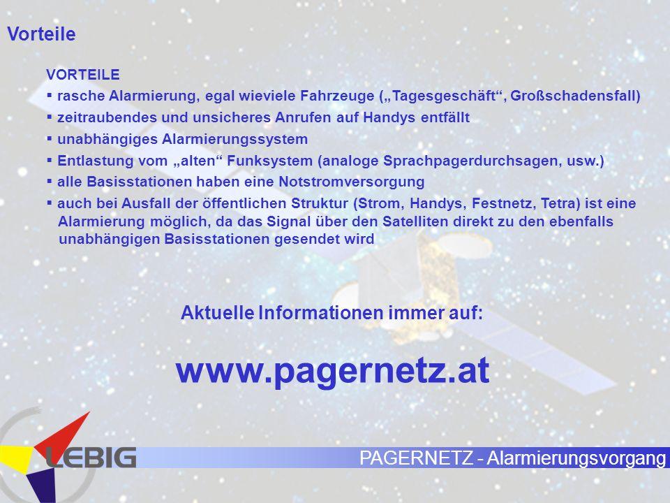 PAGERNETZ - Alarmierungsvorgang Diverse Informationen Der Pagerruf und/oder die SMS sind die Alarmierung, ein zusätzlicher Telefonanruf zum Zweck der