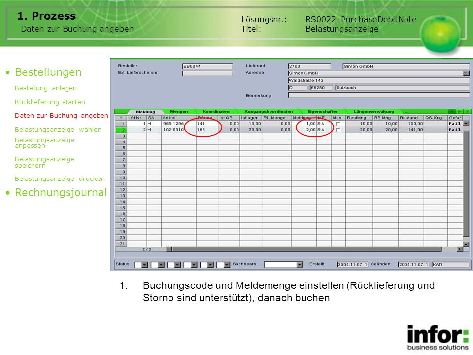 3.Prozessbeschreibung Belastungen können manuell aufgenommen werden.
