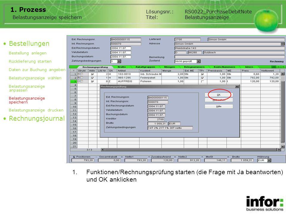1.Funktionen/Belastung drucken starten, Anzahl Exemplare einstellen (Vorbelegung kann mit ini-Schalter DebitNoteNoOfCopies im Kapitel ResolPDN eingestellt werden) 1.