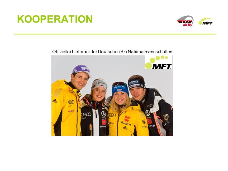 Offizieller Lieferant der Deutschen Ski Nationalmannschaften KOOPERATION