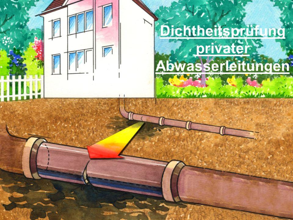 Hier erscheint Ihr Logo Dichtheitsprüfung privater Abwasserleitungen