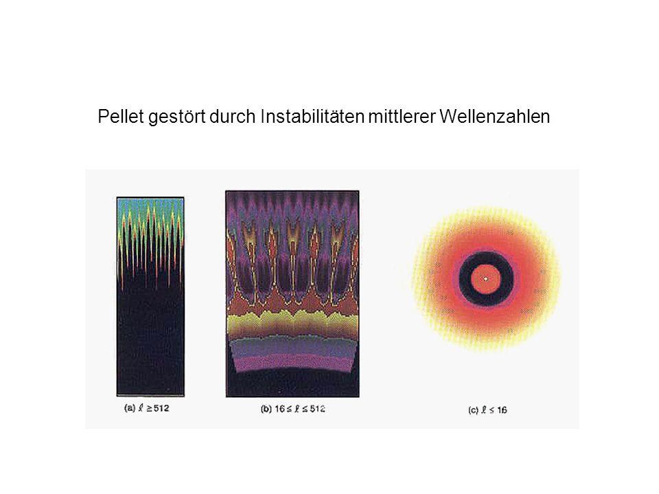 Pellet gestört durch Instabilitäten mittlerer Wellenzahlen