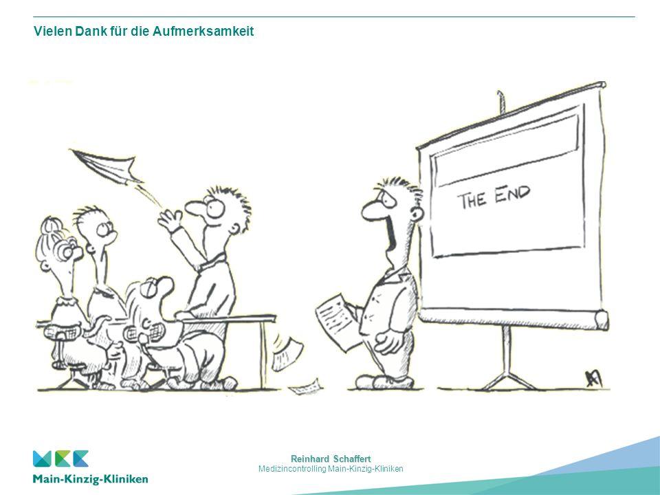 Reinhard Schaffert Medizincontrolling Main-Kinzig-Kliniken Vielen Dank für die Aufmerksamkeit